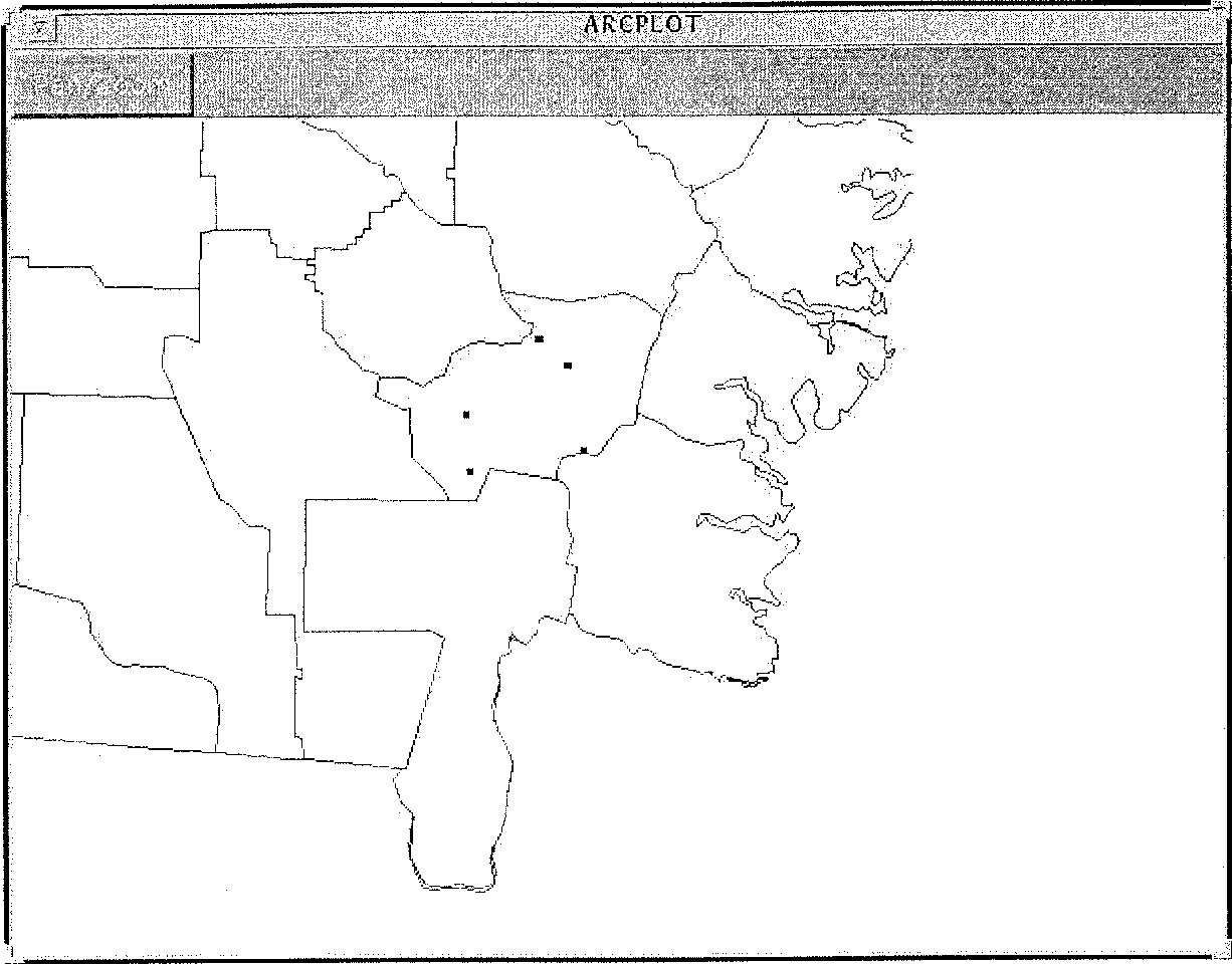 Figure 1. Plots in study site, Brantley county, Georg~a.