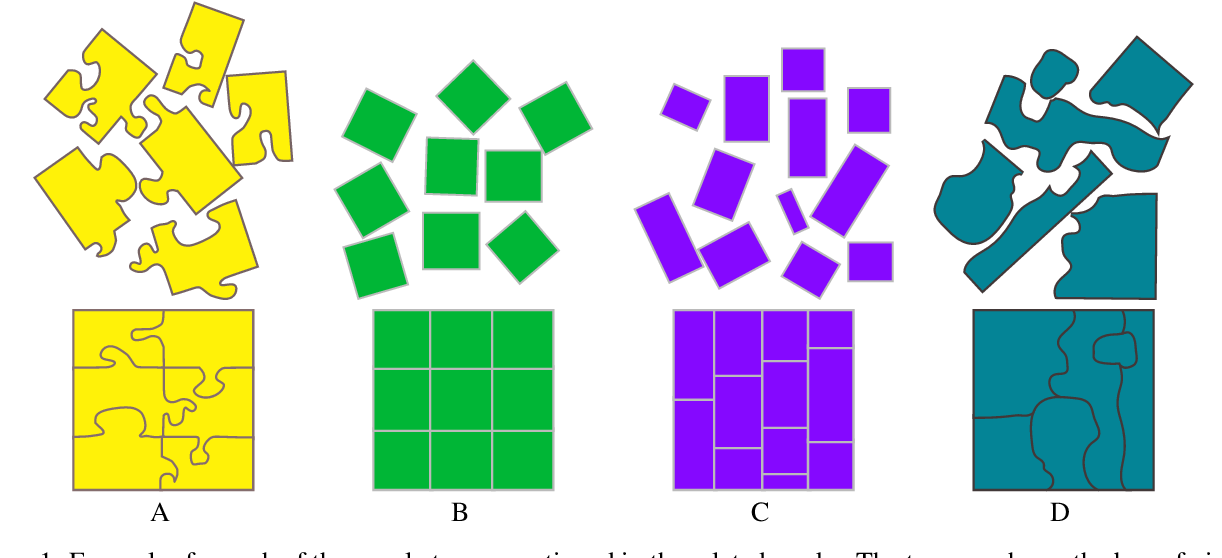 Figure 1 for Lazy caterer jigsaw puzzles: Models, properties, and a mechanical system-based solver