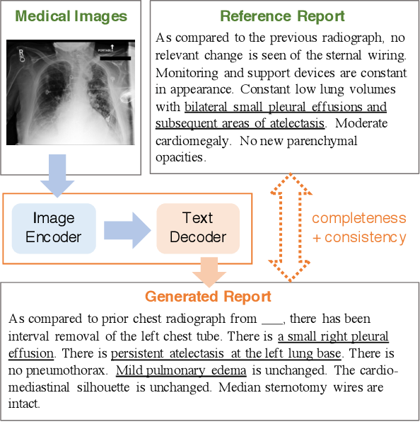 Figure 1 for Improving Factual Completeness and Consistency of Image-to-Text Radiology Report Generation