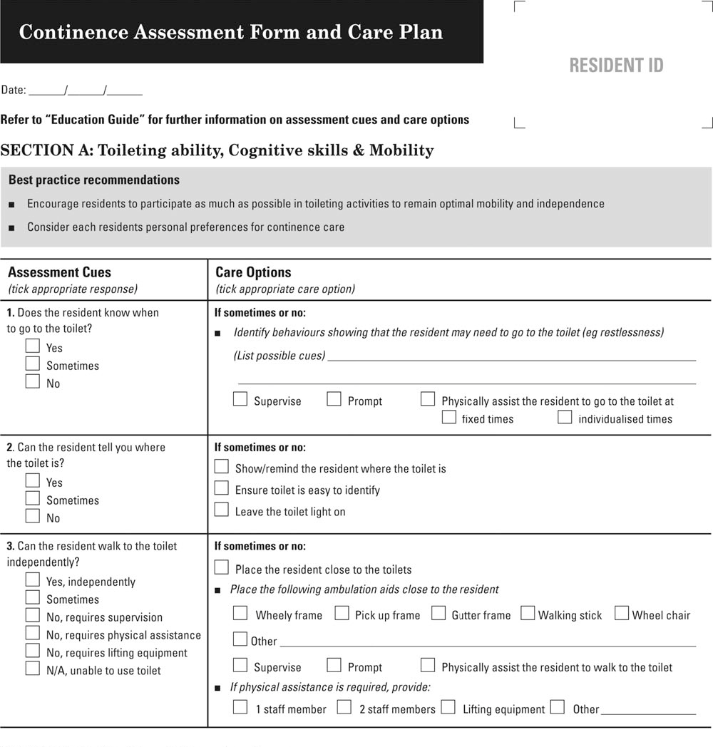 Aged care behaviour assessment tools