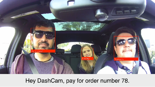 Figure 1 for DashCam Pay: A System for In-vehicle Payments Using Face and Voice