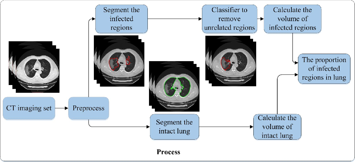 Figure 3 for Deep learning to estimate the physical proportion of infected region of lung for COVID-19 pneumonia with CT image set