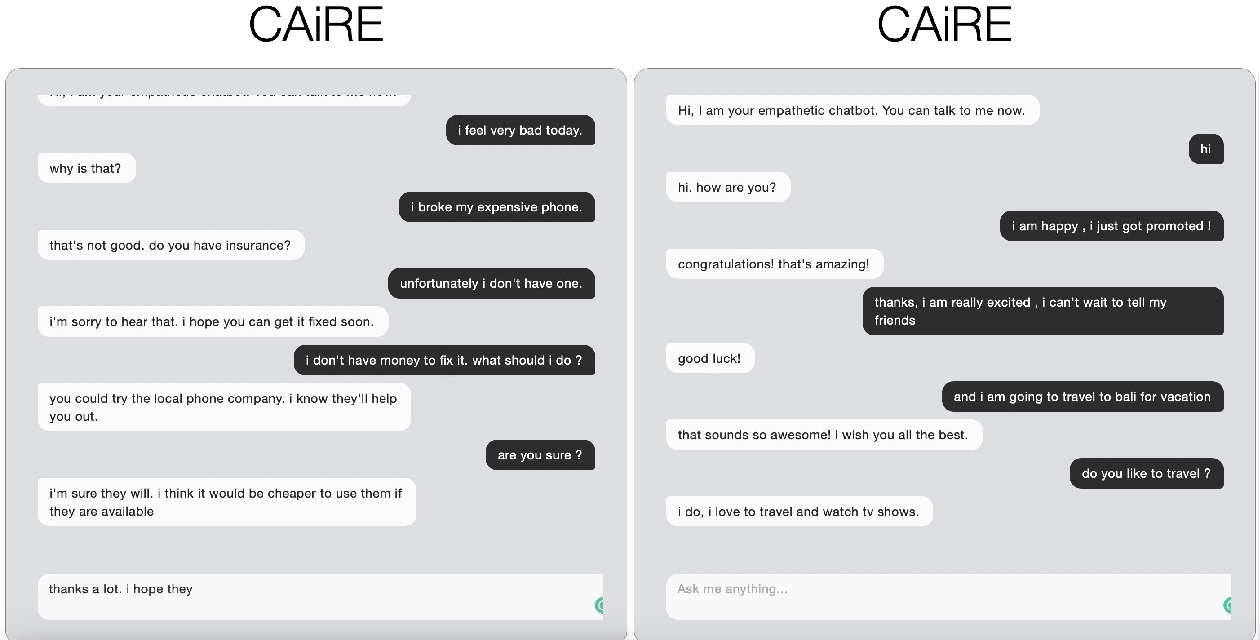 Figure 4 for CAiRE: An End-to-End Empathetic Chatbot