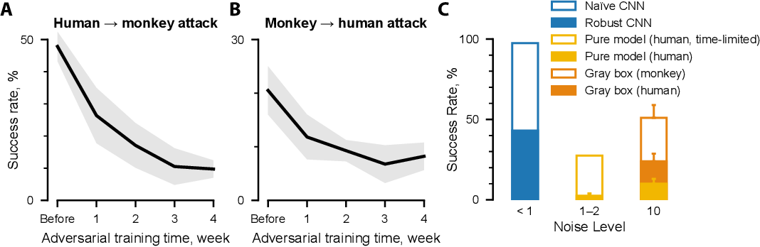 Figure 4 for Adversarial images for the primate brain