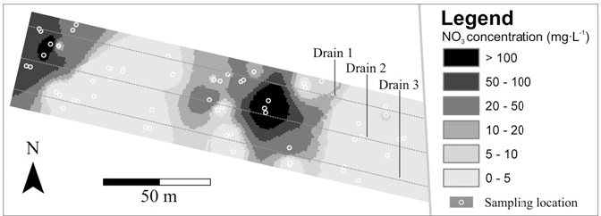 Direct measurements of the tile drain and groundwater flow