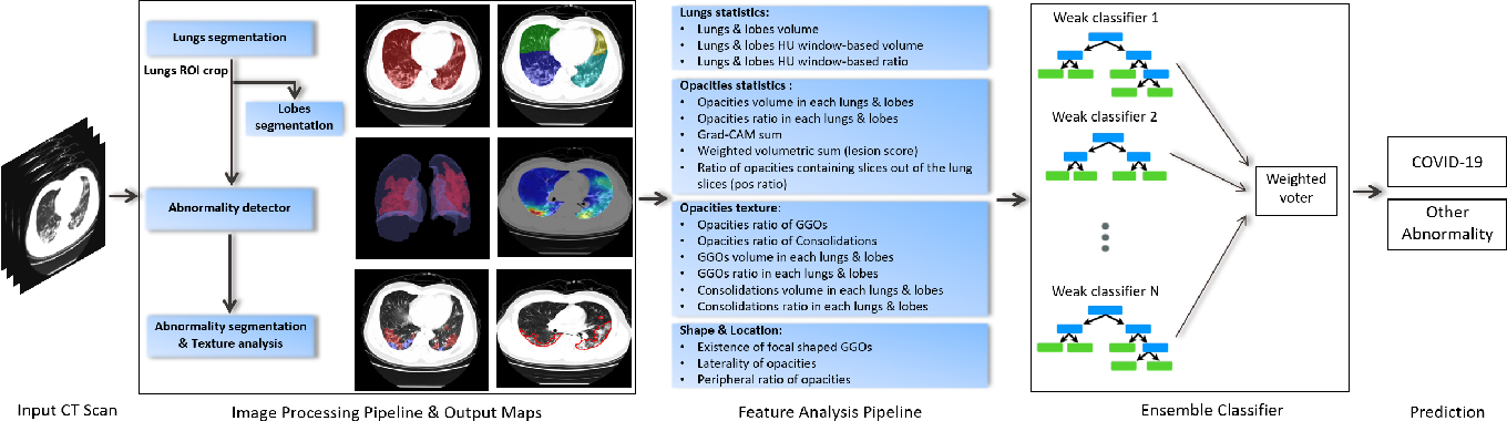 Figure 3 for Automated triage of COVID-19 from various lung abnormalities using chest CT features