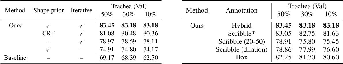 Figure 4 for Weakly Supervised Volumetric Segmentation via Self-taught Shape Denoising Model