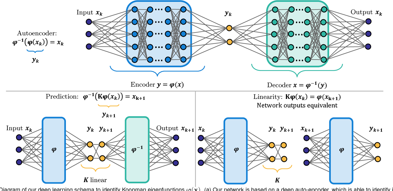Figure 1 for Deep learning for universal linear embeddings of nonlinear dynamics