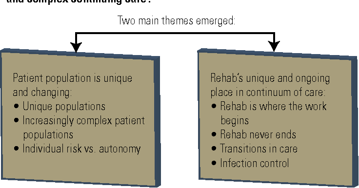 Figure 2. Exploration of patient safety in rehabilitation and complex continuing care settings