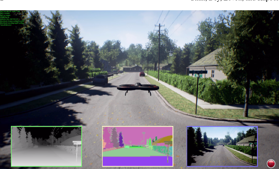 Figure 1 for AirSim: High-Fidelity Visual and Physical Simulation for Autonomous Vehicles