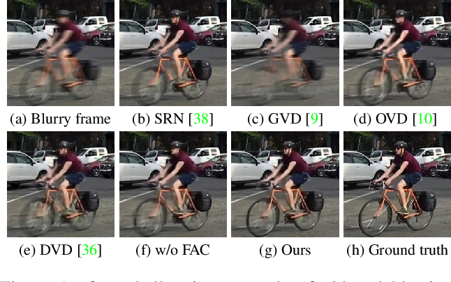 Figure 1 for Spatio-Temporal Filter Adaptive Network for Video Deblurring