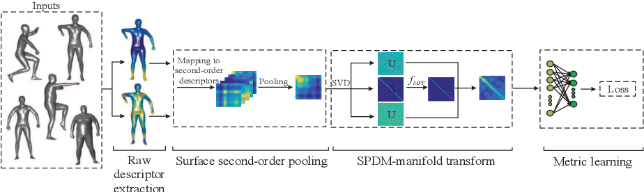 Figure 1 for Learning Spectral Transform Network on 3D Surface for Non-rigid Shape Analysis