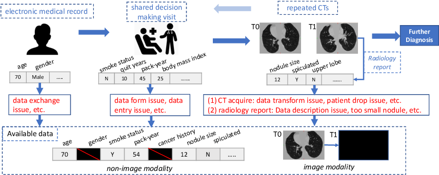 Figure 1 for Lung Cancer Risk Estimation with Incomplete Data: A Joint Missing Imputation Perspective