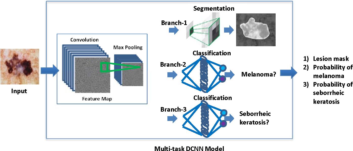 Figure 1 for A Novel Multi-task Deep Learning Model for Skin Lesion Segmentation and Classification