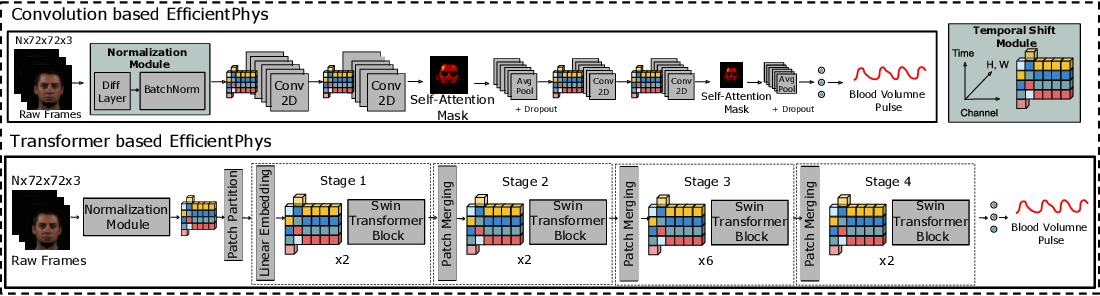 Figure 3 for EfficientPhys: Enabling Simple, Fast and Accurate Camera-Based Vitals Measurement