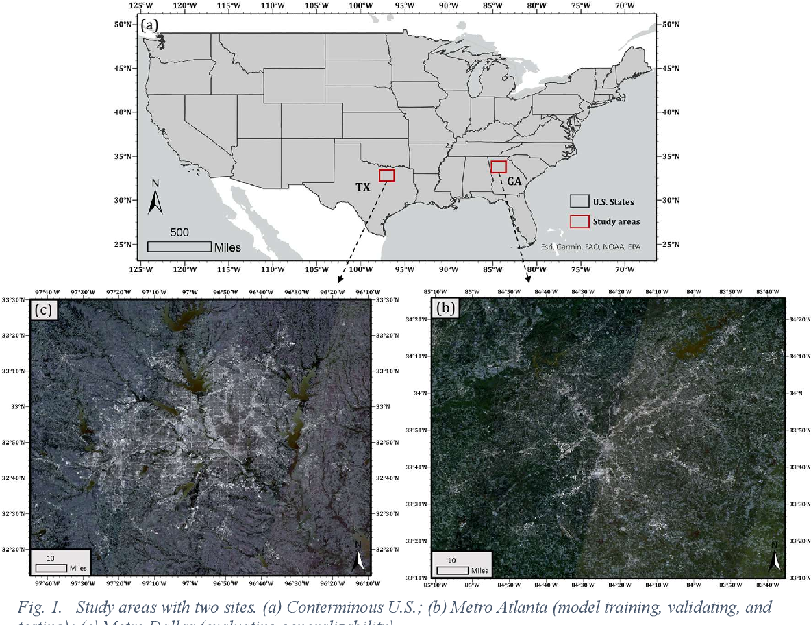 Figure 1 for Sensing population distribution from satellite imagery via deep learning: model selection, neighboring effect, and systematic biases