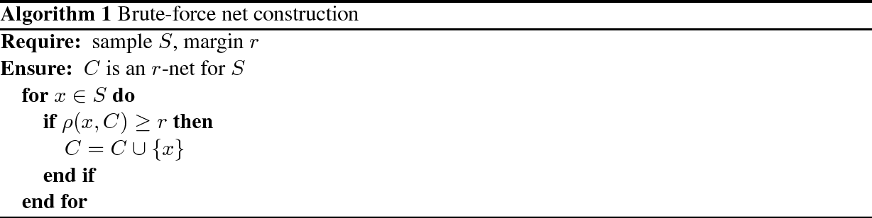 Figure 1 for Nearly optimal classification for semimetrics