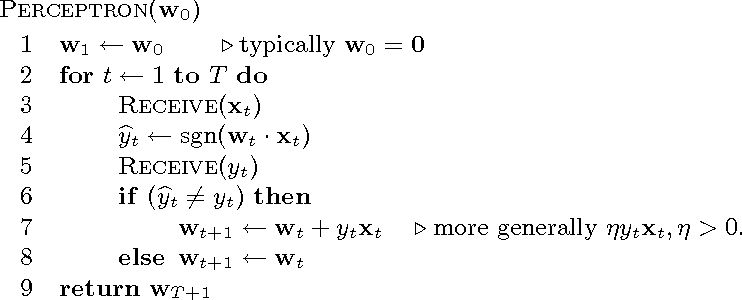 Figure 1 for Perceptron Mistake Bounds