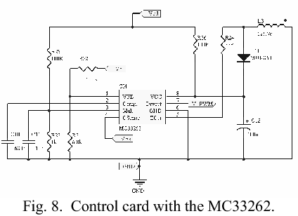 Fig. 8. Control card with the MC33262.