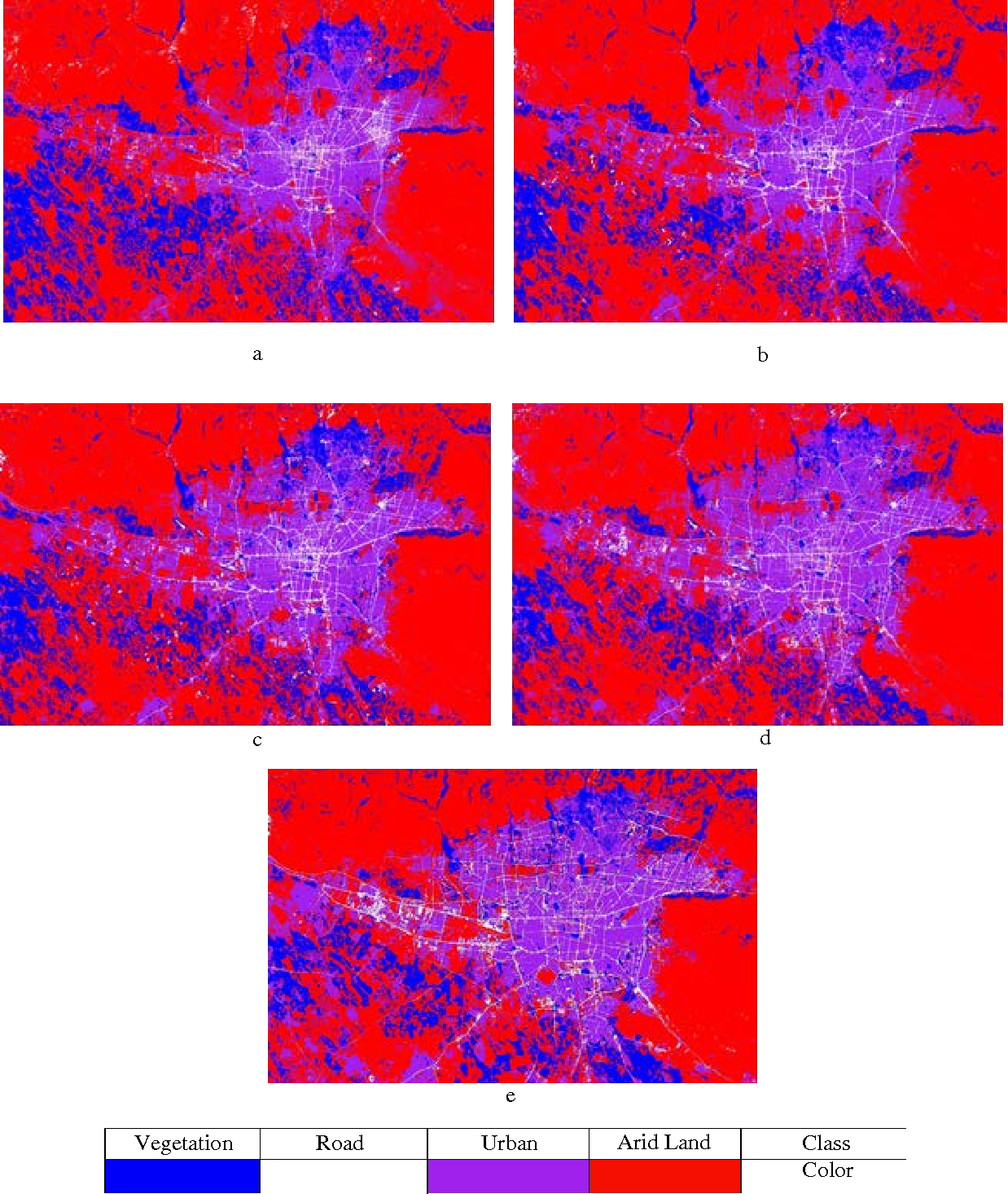 Figure 4 for Using the SLEUTH urban growth model to simulate the impacts of future policy scenarios on urban land use in the Tehran metropolitan area in Iran