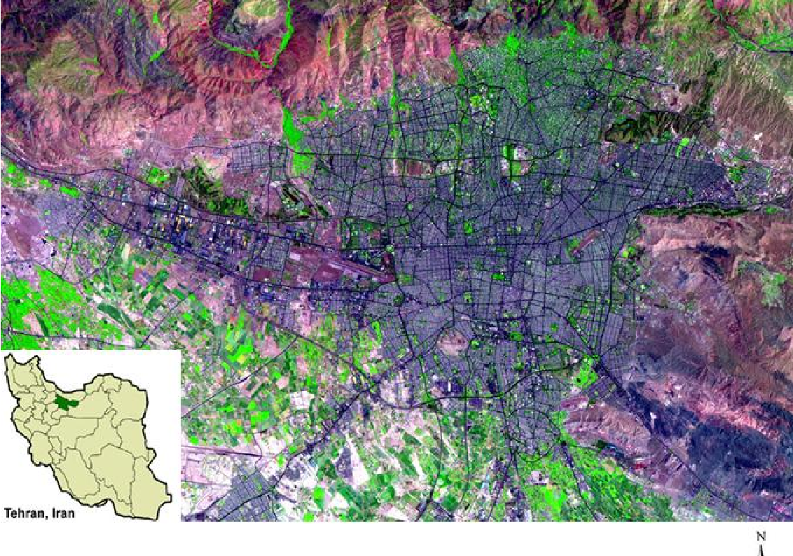 Figure 1 for Using the SLEUTH urban growth model to simulate the impacts of future policy scenarios on urban land use in the Tehran metropolitan area in Iran