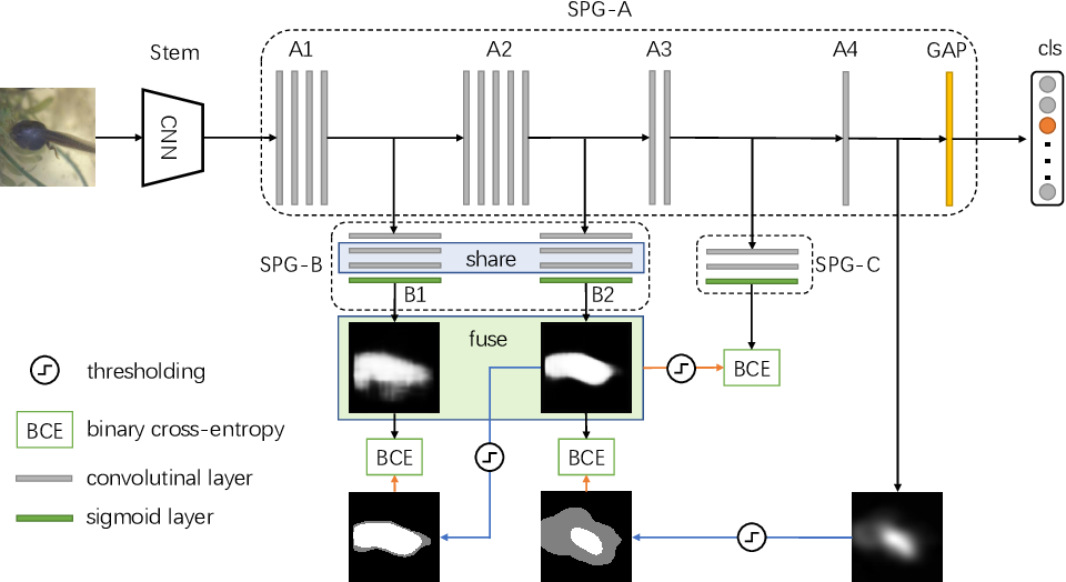 Figure 3 for Self-produced Guidance for Weakly-supervised Object Localization