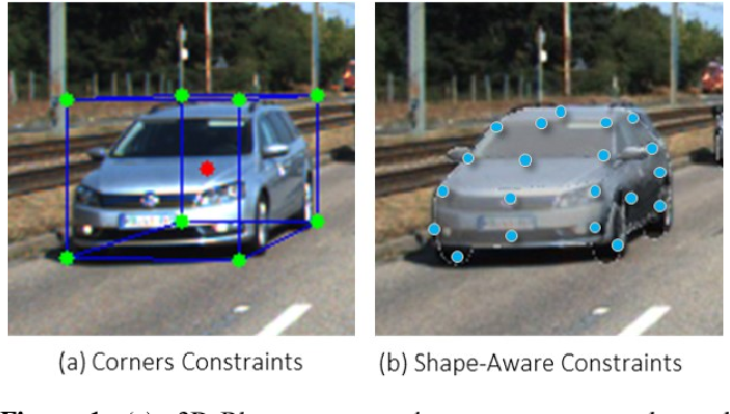 Figure 1 for AutoShape: Real-Time Shape-Aware Monocular 3D Object Detection