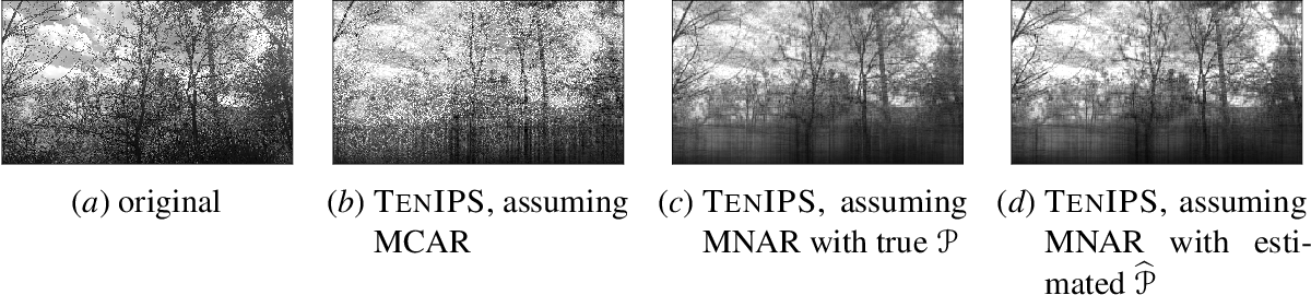 Figure 4 for TenIPS: Inverse Propensity Sampling for Tensor Completion