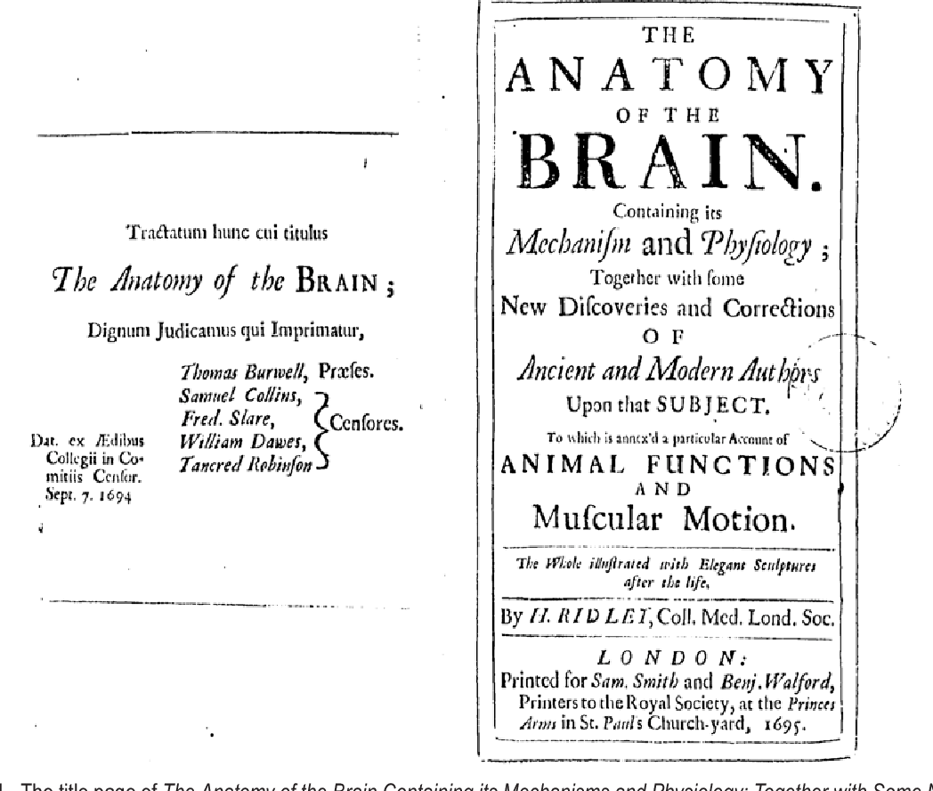 Figure 1 from Humphrey Ridley (1653-1708): 17th century evolution in ...