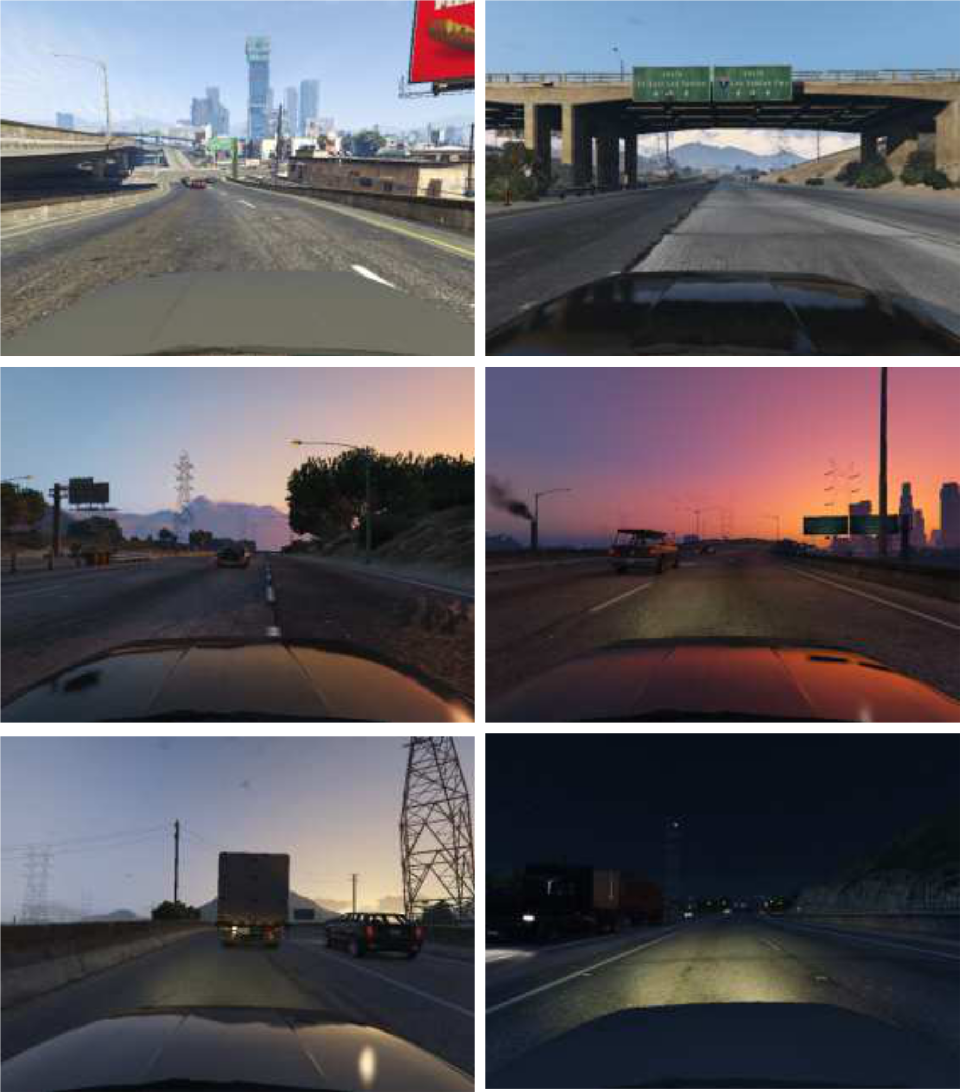 Figure 3 for Beyond Grand Theft Auto V for Training, Testing and Enhancing Deep Learning in Self Driving Cars