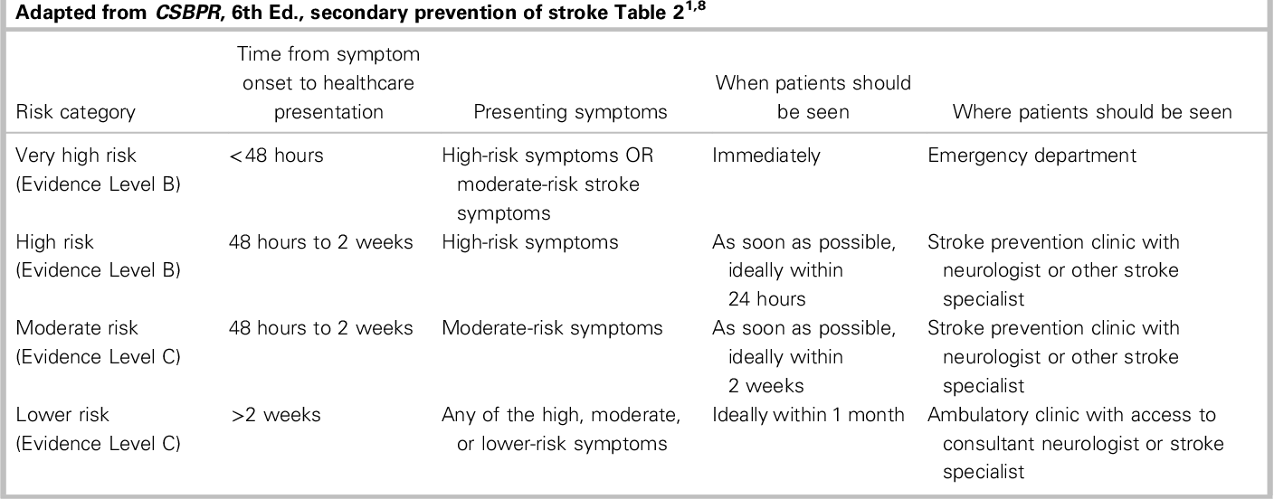 PDF] A summary of the Canadian Stroke Best Practice
