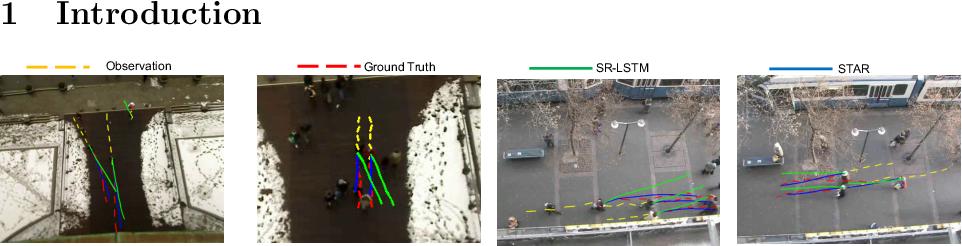 Figure 1 for Spatio-Temporal Graph Transformer Networks for Pedestrian Trajectory Prediction