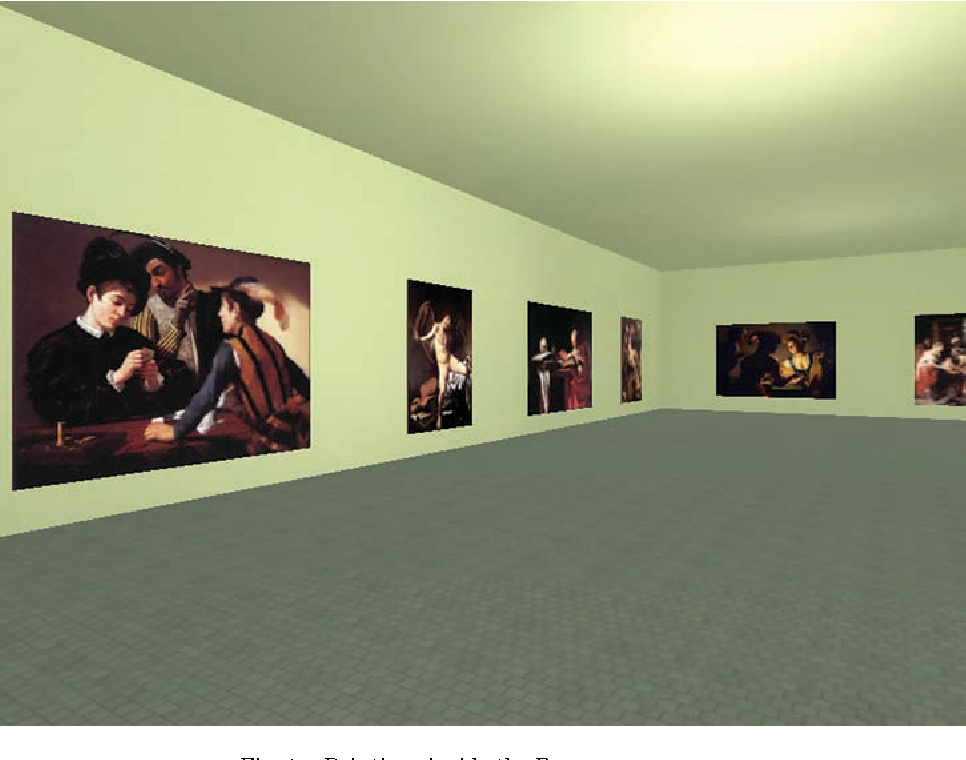 Fig. 1. Paintings inside the Baroque museum.