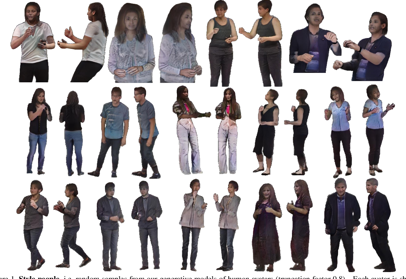 Figure 1 for StylePeople: A Generative Model of Fullbody Human Avatars