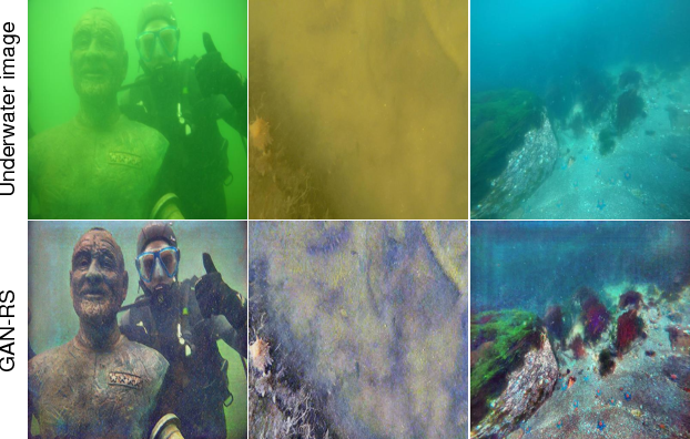 Figure 1 for Towards Quality Advancement of Underwater Machine Vision with Generative Adversarial Networks