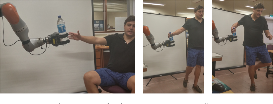 Figure 1 for Learning Dynamic Robot-to-Human Object Handover from Human Feedback