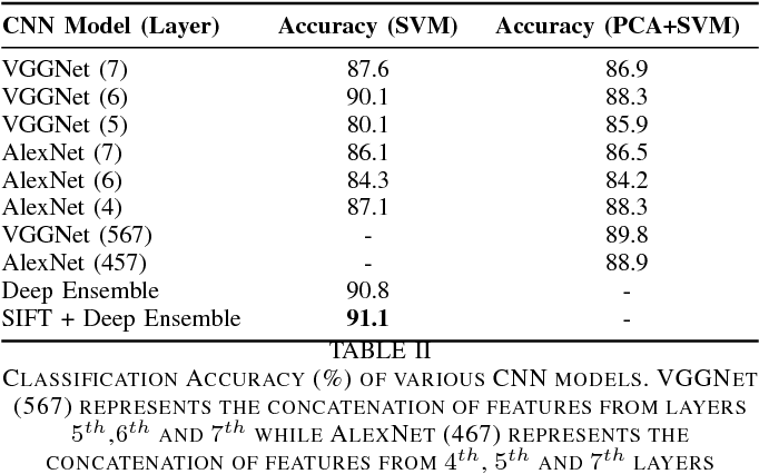 Figure 4 for Object Classification using Ensemble of Local and Deep Features
