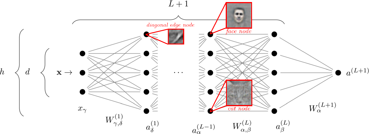 Figure 1 for Perspective: A Phase Diagram for Deep Learning unifying Jamming, Feature Learning and Lazy Training