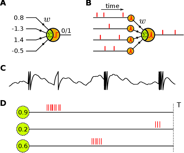 Figure 1 for Synaptic Learning with Augmented Spikes