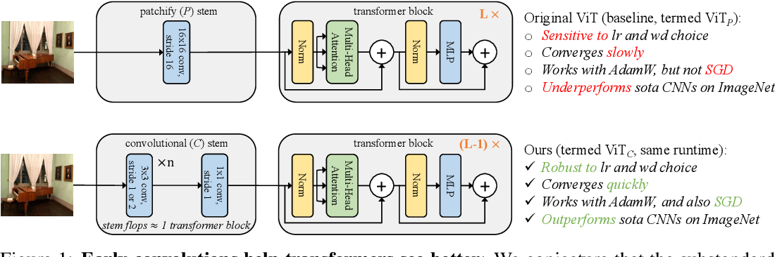 Figure 1 for Early Convolutions Help Transformers See Better