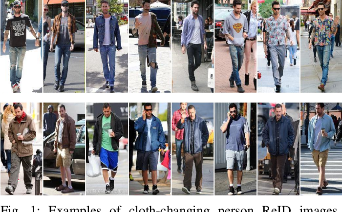 Figure 1 for Multigranular Visual-Semantic Embedding for Cloth-Changing Person Re-identification