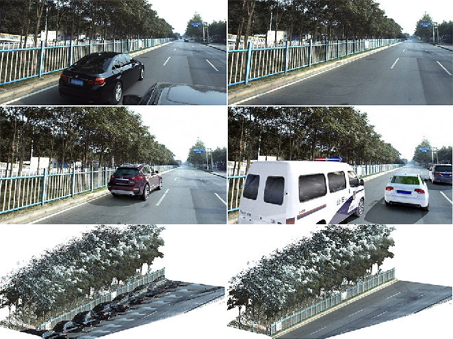 Figure 1 for AutoRemover: Automatic Object Removal for Autonomous Driving Videos