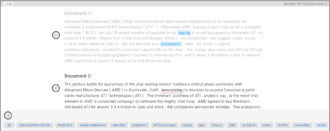 Figure 3 for CoRefi: A Crowd Sourcing Suite for Coreference Annotation