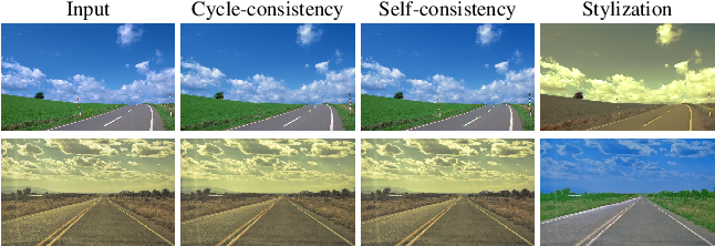 Figure 2 for Photo style transfer with consistency losses