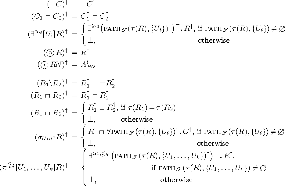 Figure 4 for A Decidable Very Expressive Description Logic for Databases (Extended Version)