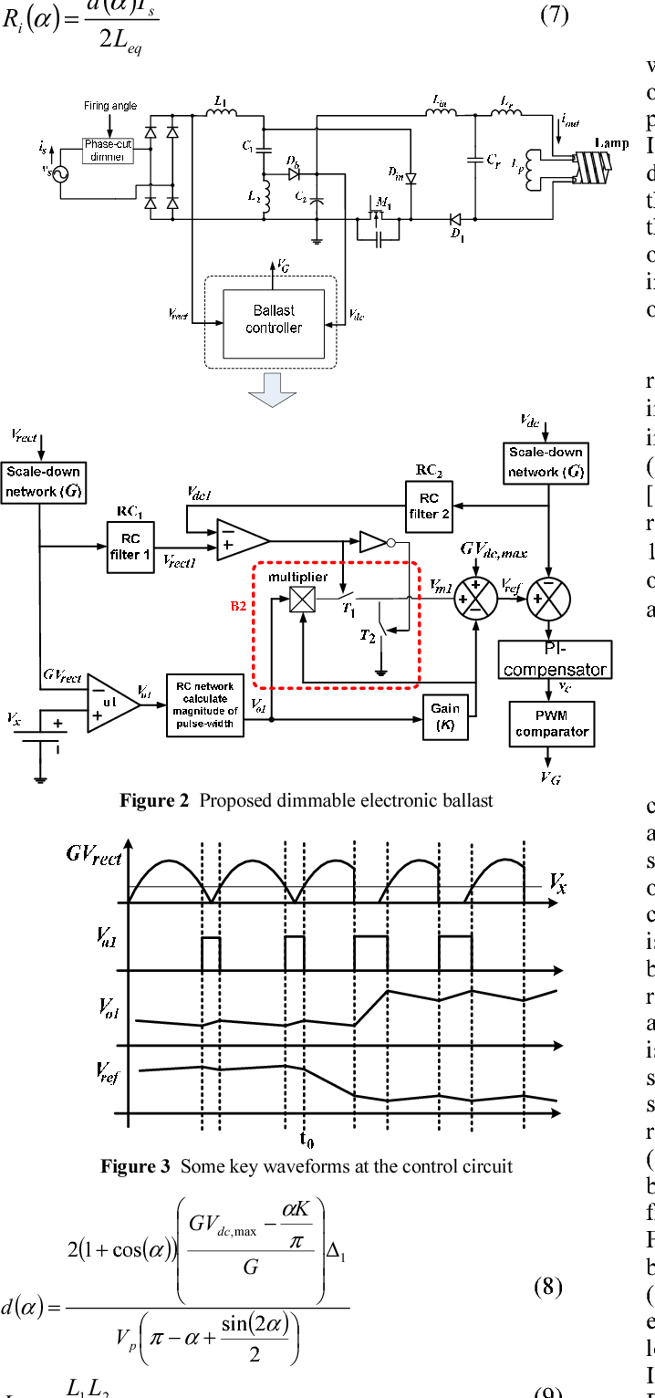 A Novel Dimmable Electronic Ballast For Compact Fluorescent Lamps Diagram Of The Incandescent Light How Flourescent Figure 3