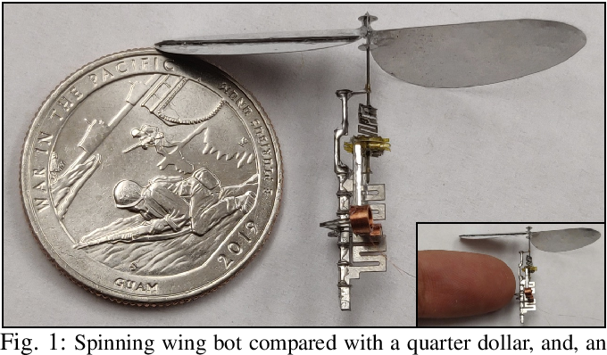 Figure 1 for Design of the First Insect-scale Spinning-wing Robot