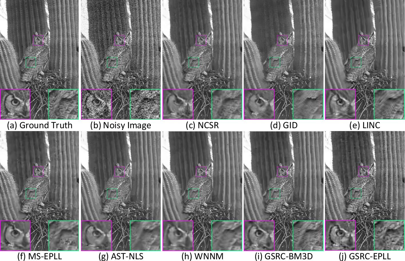 Figure 2 for Group Sparsity Residual Constraint for Image Denoising