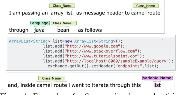 Figure 1 for Code and Named Entity Recognition in StackOverflow