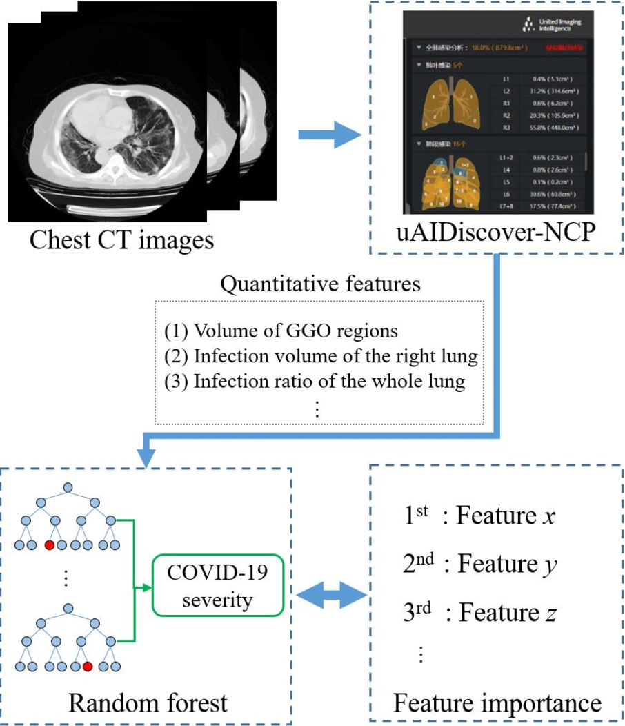 Figure 4 for Severity Assessment of Coronavirus Disease 2019 (COVID-19) Using Quantitative Features from Chest CT Images